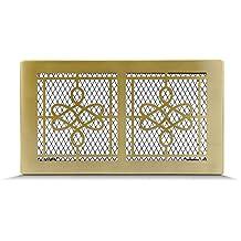 Rejilla de ventilación rejilla de aire Rejilla de aire caliente para chimenea–Retro oro (Seren elegante Style) tamaños diferentes 17x 17cm 17x 30cm 17x 40cm–Con O Sin Láminas