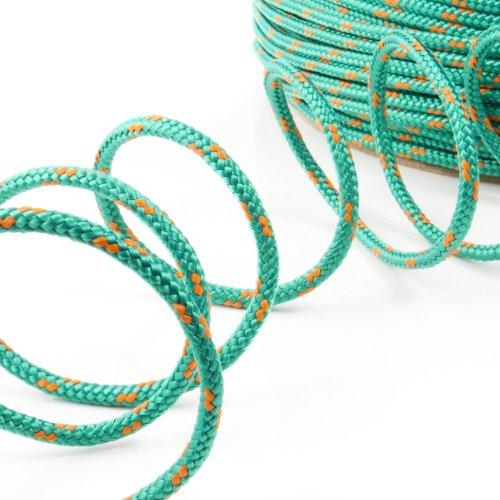 10m POLYPROPYLENSEIL 16mm GRÜN Polypropylen Seil Tauwerk PP Flechtleine Textilseil Reepschnur Leine Schnur Festmacher Rope Kunststoffseil Polyseil geflochten