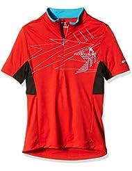 Ziener Niños Bike camiseta cersten, infantil, color Rojo - rojo, tamaño 17 años (176 cm)