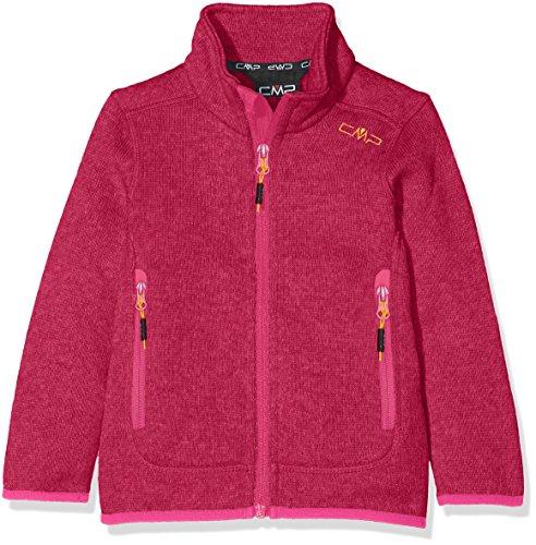 CMP Mädchen Strickfleece Jacke, Borgogna-Hot Pink, 152