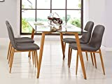 Mobilier Deco Table scandinave + 4 chaises scandinave en Tissu