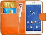 G-Shield Hülle für Sony Xperia Z3 Klapphülle mit Kartenfach - Orange