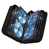 Hama CD Tasche (für 120 Discs, CD / DVD / Blu-ray, Mappe zur Aufbewahrung, platzsparend für Büro, Wohnzimmer und Zuhause, Transport-Hüllen) schwarz