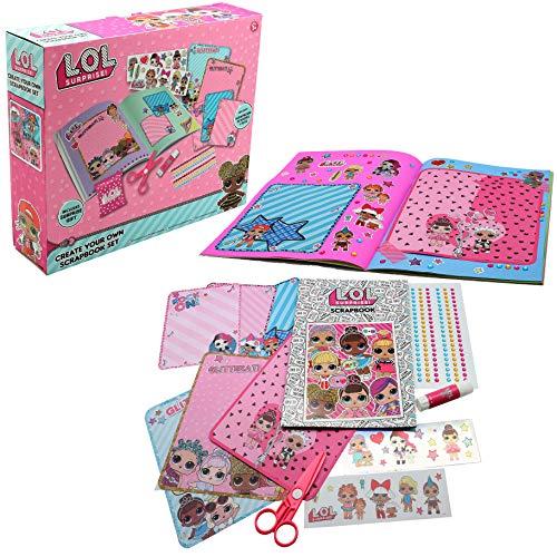 L.O.L. Surprise ! Decora e Colora Il Tuo Album di Ritagli con Adesivi Sticker Perline Regalo Creativo per Bambine Bambole LOL Gioco Educativo per Bambina