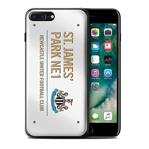 Officiel Newcastle United FC Coque / Etui pour Apple iPhone 7 Plus / Blanc/Bleu Design / St James Park Signe Collection Blanc/Or