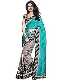 Navabi Export Cotton Silk Saree With Blouse Piece(Zibra Green_Green_Free Size)