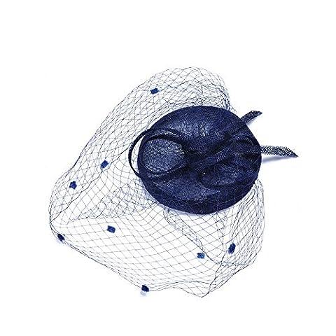 VKFashion Bibi Cérémonie Fascinator Chapeau pour Mariage/Église/Party-