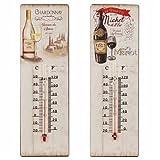 Art Deco - Thermometre Murale Vin Assortie (1 unité) 25 cm