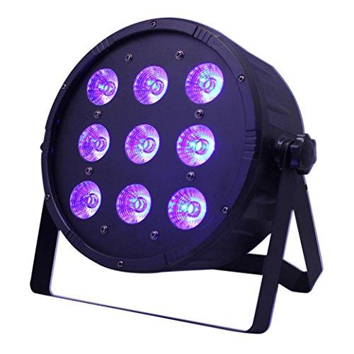DMX512 Par Licht Lichteffekt Bühnenbeleuchtung 4 in 1 RGBW Partylicht mit 4 LED Display automatisierte und Sprachaktivierte Stage Lights,Stimmungsleuchten für Disco, Ballsaal,Bar,Bühne,Club,Par (9LEDS) (1 Licht 8 Cast)