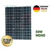 Panel solar monocristalino 50W 12V células alemanas