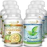 Garcinia Cambogia + ToxiCleanse (3 mesi) - Eccezionale combo di 2 prodotti (dimagrante + detox) - Altissima Concentrazione di estratti 100% naturali - Efficacia, qualità e sicurezza certificati - 180 + 180 capsule
