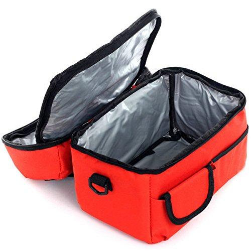 GERMER 8 L Pranzo Al Sacco Di Grande Capacità Per Isolato Fresco Borsa Lunchbox Con Tracolla Regolabile,Bigred bigred