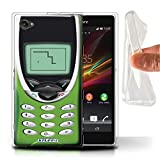 Stuff4 Gel TPU Hülle / Hülle für Sony Xperia Z1 Compact / Hellgrün Nokia 8210 Muster / Vintage Handys Kollektion
