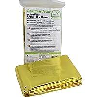 Manta de emergencia dorada color plata de Medi - Inn tamaño: 1,6 x 2,1 m