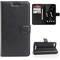 CaseFirst Wiko Jerry Wallet Leather Case with Protective Durable Flip Shell Folio flip Cell Phone Cover Bag with Card Slots,Cash Pocket,Black