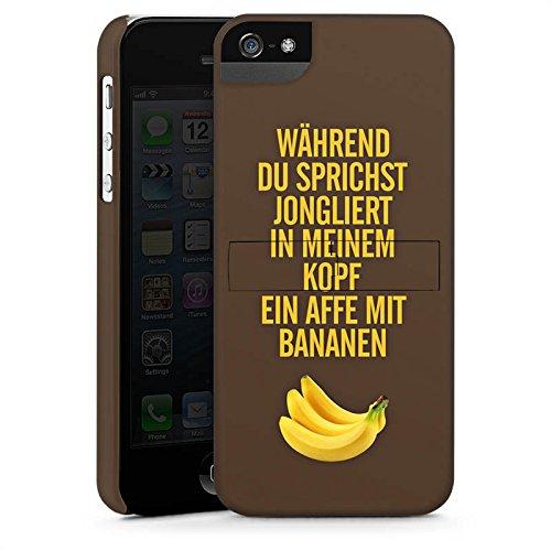 Apple iPhone X Silikon Hülle Case Schutzhülle Affe Bananen Sprüche Premium Case StandUp