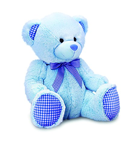 Keel Toys 25 centimetri Nursery percalle Bear (blu)