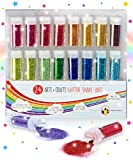 Original Stationery Set Glitter Extra Sottile - Brillantini per Unghie, Corpo e Viso - Brillantini Ideali come Glitter per Slime, Nail Art o Glitter da Pittura e Disegni - 24 Colori Assortiti