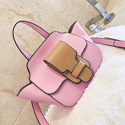 art und weisemetallweingott kleines quadratisches paket Reine farbenverriegelungs-lackdame-schulterbeutel Rosa