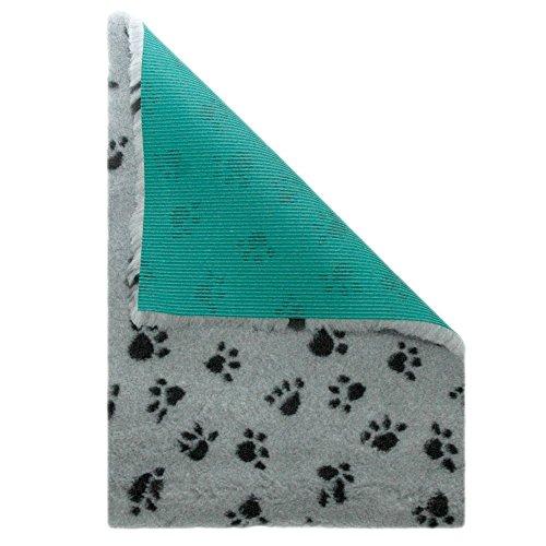 Hund-wurf-kissen (MedBed Premium - Die medizinische Hundedecke | Waschbar | Feuchtigkeitsabsorbierend | Isolierend | Antiallergen | Atmungsaktiv | Extrem robust (100x140 cm, Pfötchen-Grau))