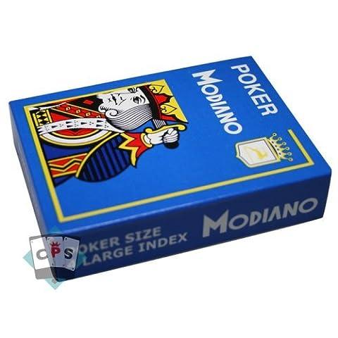 Jeu 52 cartes : Cristallo bleu roi-Format : Poker -Index : 4/jumbo
