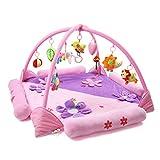 JYSPORT Baby Spieldecke Spielbögen Activity Gym Krabbeldecke Plush Spielzeuge Matte (purple)