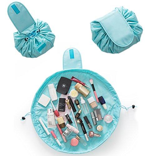 Kit organizador de maquillaje portátil e impermeable, bolso de cosméticos grande, moda para joyería de mujer, neceser para cuarto de baño, bolso para cepillo con cremallera, bolso de viaje, bolso de mano