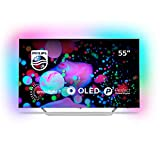 Philips 55POS9002/05 55-Inch 4K Ultra HD OLED Android Smart TV with Ambilight 3-sided and HDR Perfect - Silver (2017/2018 Model)