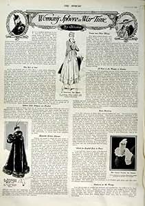 LA MODE 1916 DE LA FEMME HABILLE LE RENARD NOIR DE FOURRURE DE ROBE DE THÉ
