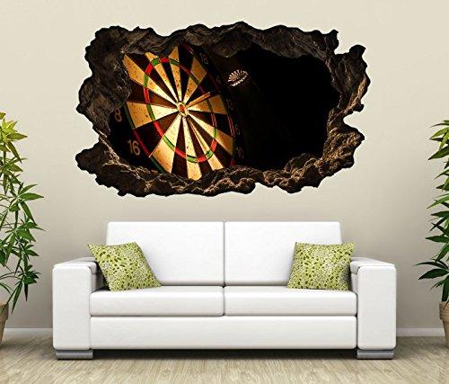 *3D Wandtattoo Sport Dart Pfeil Dartscheibe Bild selbstklebend Wandbild sticker Wohnzimmer Wand Aufkleber 11H1018, Wandbild Größe F:ca. 97cmx57cm*