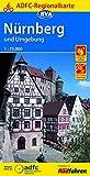 ADFC Regionalkarte Nürnberg und Umgebung mit Tagestouren-Vorschlägen, 1:75.000, reiß- und wetterfest, GPS-Tracks Download (ADFC-Regionalkarte 1:75000) -