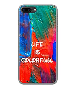 PrintVisa Designer Back Case Cover for Apple iPhone 7 (Creativity Intensity Effect Abstract Homemade Beautiful Painting)