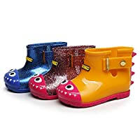 HUHU833 Infant Baby Child Waterproof Shark Rubber Rain Boots Kids Rain Shoes
