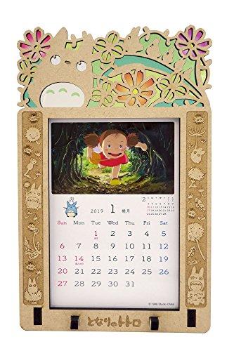 ensky My Neighbor Totoro Stained Frame Try-X Desktop Calendar Offizielle Schreibtischkalender Anime 2019 [Japan Import]
