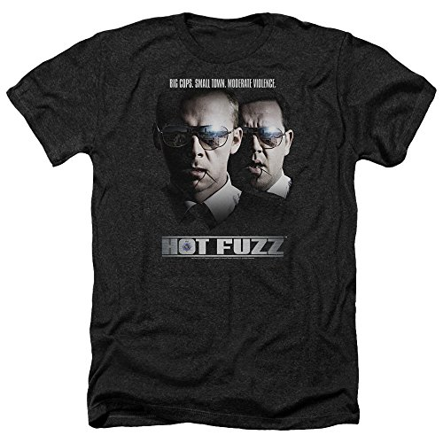 Hot Fuzz Herren T-Shirt Opaque schwarz schwarz, - Hot Fuzz-t-shirt