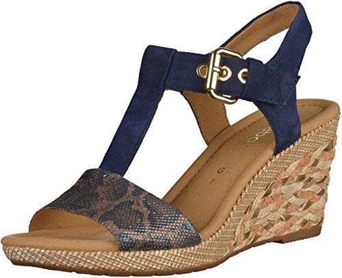 Gabor Karen - Sandales Compensées femme Bleu