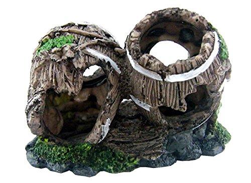 Aquarium Ornament Dekoration 2 Gebrochen Faß
