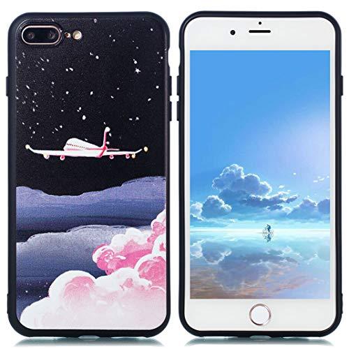 Telefonkasten für iPhone 7/8 Plus | Ultra Dünnes Leichtes Matte TPU Anti-Rutsch Anti-Kratzer Telefon Abdeckung Kompatibel mit iPhone 7/8 Plus,Wolken Flugzeug (Abdeckungen Flugzeug Iphone)