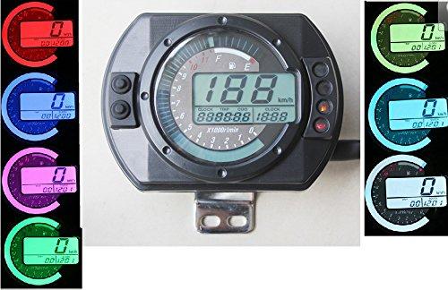 199 km/h LCD digitale 12000 rpm Tachometer Geschwindigkeitsmesser Kilometerzähler Motorrad Roller