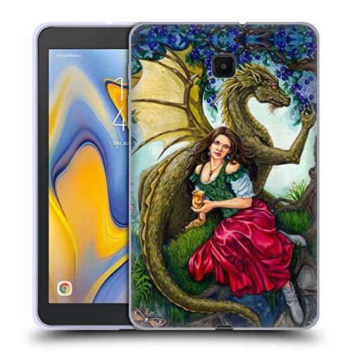 Head Case Designs Offizielle Jane Starr Weils Wein Drachen Göttern Soft Gel Huelle kompatibel mit Galaxy Tab A 8.0 (2018) (Drache Jane)