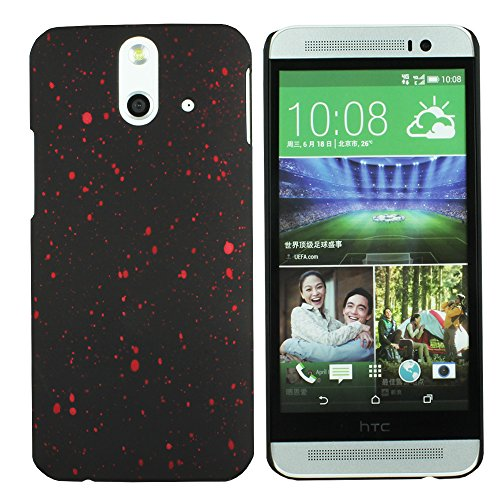 Heartly Night Sky Glitter Star 3D Printed Design Retro Color Armor Hard Bumper Back Case Cover For HTC One E8 Dual Sim - Hot Red  available at amazon for Rs.109