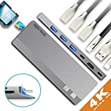 ARMANII USB c Hub, 8-in-1 Type c Adaptateur with 3 x USB 3.0, Thunderbolt 3, USB c Charging Port, 4K HDMI Port, SD & Micro SD Card Reader - MacBook Pro Only