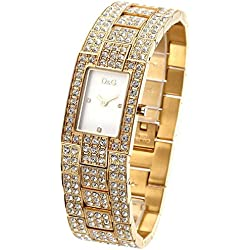 D&G Dolce&Gabbana Women's Quartz Watch with Mother of Pearl Dial Analogue Display and Gold Stainless Steel Strap DW0007 D&G