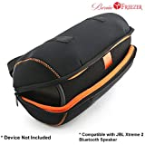Brain Freezer Travel Carrying Case Bag Motor Bike Pouch for JBL Xtreme 2 Bluetooth Speaker - Fits The Charger Cable (Black)