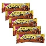 5er Pack Viba Schicht-Nougat (5 x 40 g) Nougat hell-dunkel fein & zartschmelzend Nougatriegel