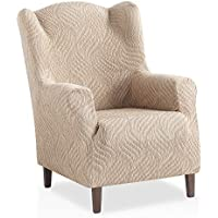 armchair covers. Bartali Elastic Winged Armchair Cover Aitana - Ivory Colour 1 Seater Size (from 70 Covers
