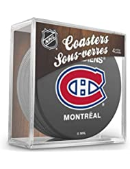 Sherwood Montreal Canadiens NHL Hockey Puck–Posavasos (4unidades)