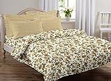 #4: AURAVE Multicolor Floral Design Pattern Reversible Premium Cotton Duvet Cover/Quilt Cover -Single Size