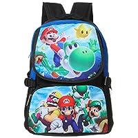Bonamana Cartoon Super Mario Backpack Anime School Bag Rucksack for Teens (B)