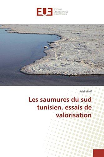 Les saumures du sud tunisien, essais de valorisation par Adel M'nif